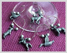 Menagerie Wine Charms Image