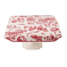 Toile Pedestal Cake Stand