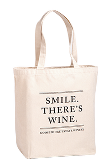 Smile Theres Wine Tote