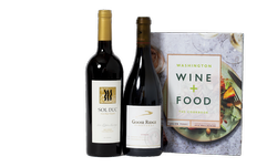 WA Wine + Food Cookbook & 2 bottles of wine
